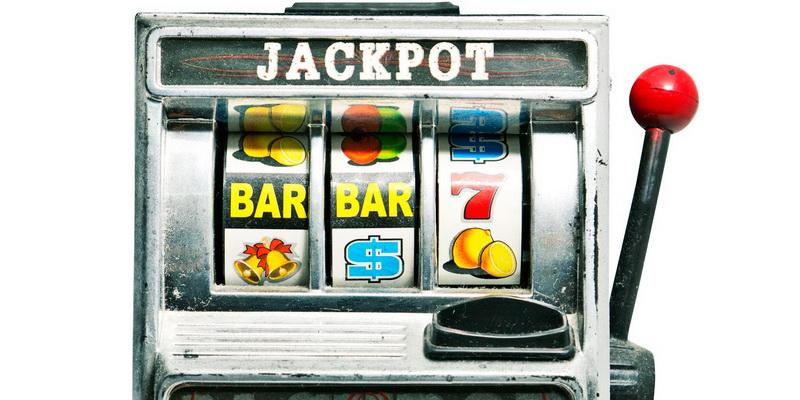 Slot machine in real casino